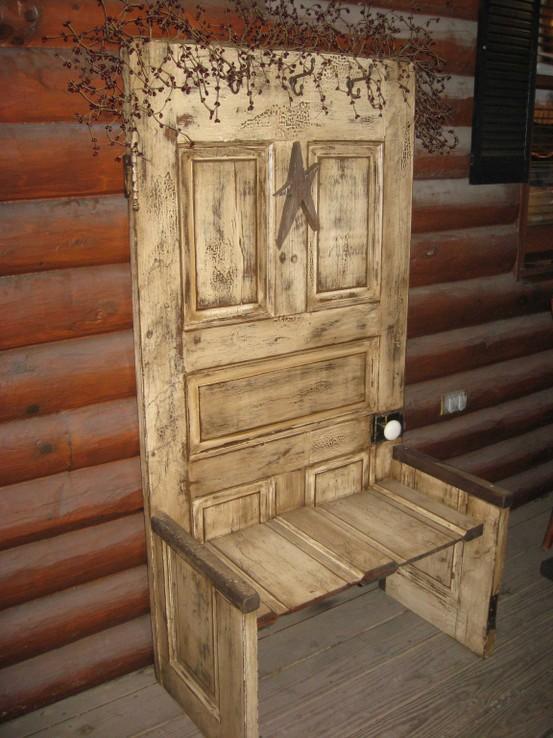 Old Door Bench Ideas