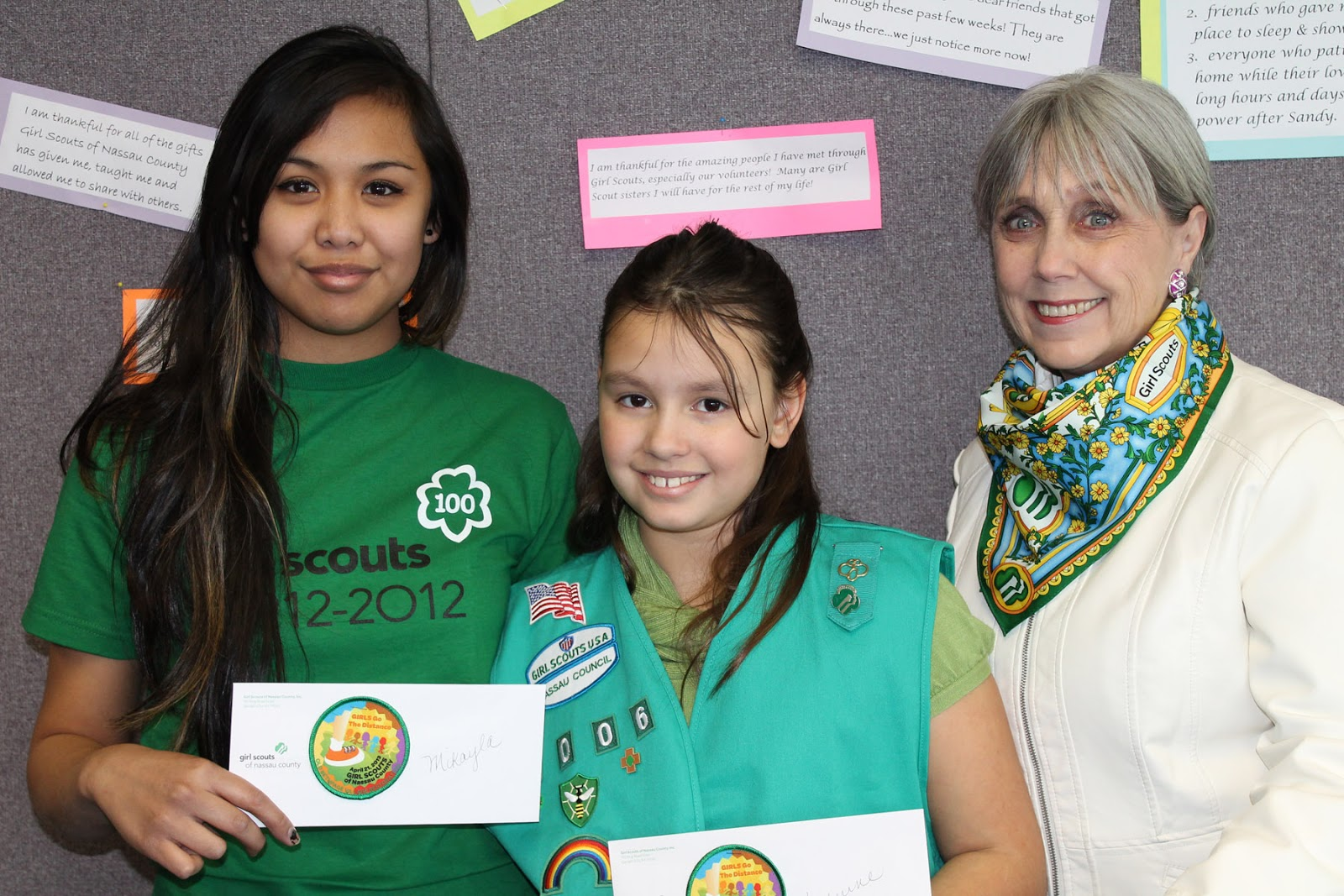 Girl Scouts of Nassau County's Girls Go the Distance Walkathon and Activity Fair Patch Contest Winners