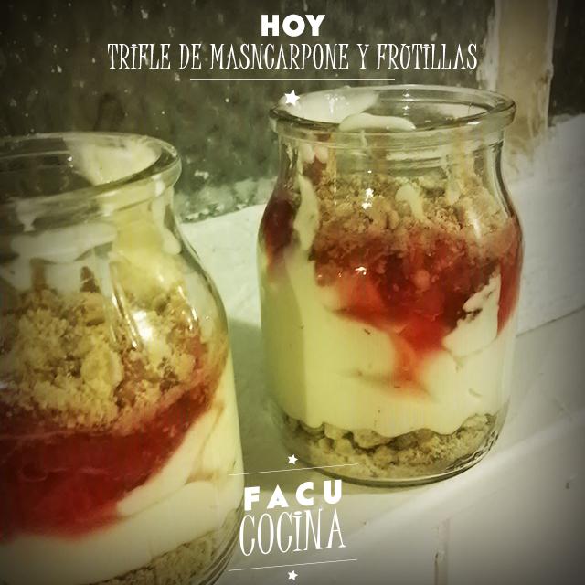 Trifle de mascarpone y frutillas