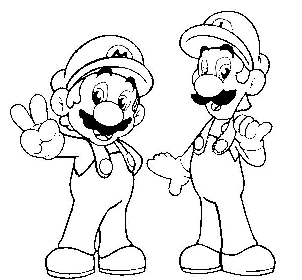 Super mario coloring pages free printable coloring pages cool coloring pages - Luigi coloriage ...