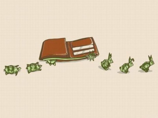 Money Logic Funny Cartoon