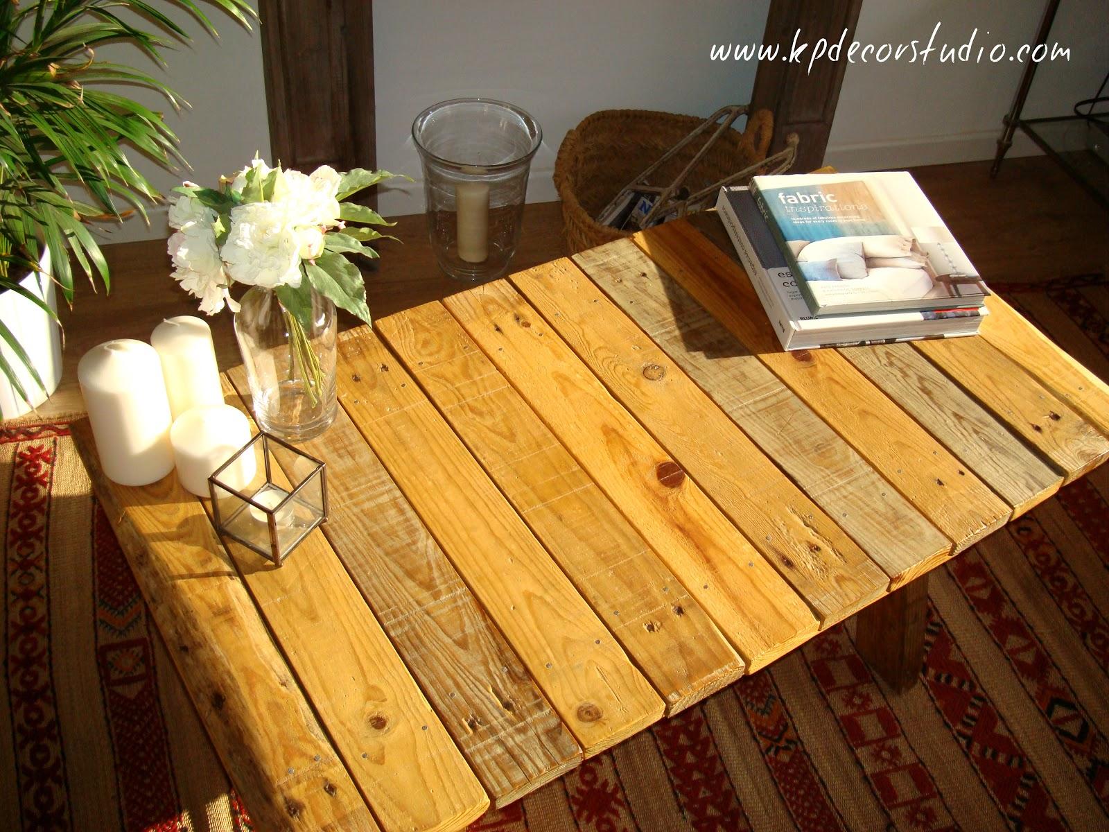 Kp tienda vintage online mesa de madera palet por - Mesas de madera hechas a mano ...