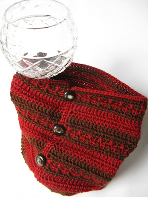 Chocolate Brown and Cranberry Red Neckwarmer