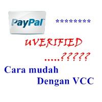 Paypal Unverified dan Vcc