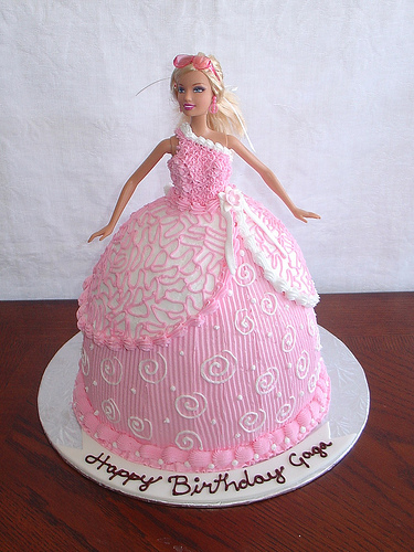 Cake Images Barbie : Birthday Cake: Pink Barbie Birthday Cakes