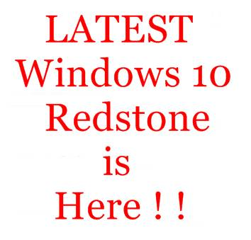 Download Windows 10 Redstone !