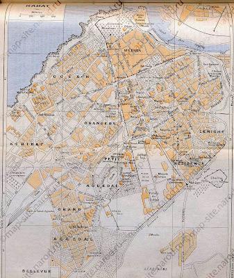Mapa de Rabat – Marrocos