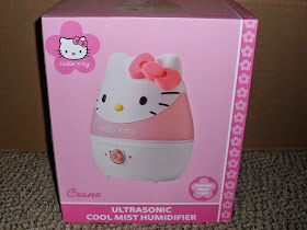 Hello Kitty Comfort Crane Cool Mist Humidifier. Review (Blu me away or Pink of me Event)