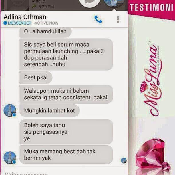 Serum MissLuna - Testimoni