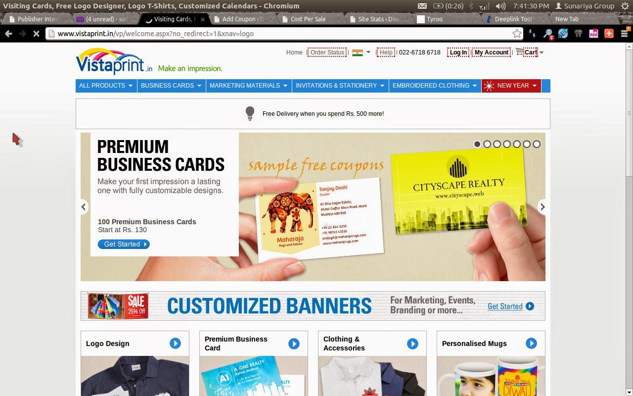 Vistaprint.com coupon code