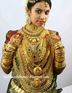 bridal jewellery collection kerala bride s gold jewellery very heavy