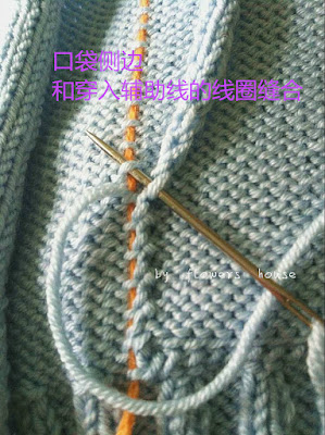 Knitting Jacket- How to Sew Pockets