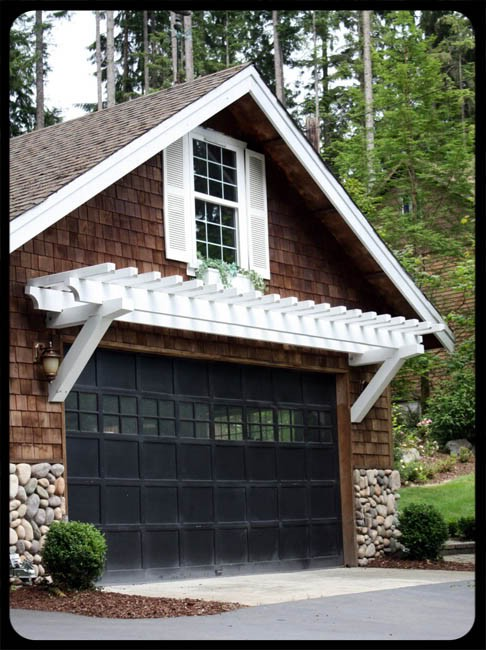 Here garage pergola plans for Garage pergola kits
