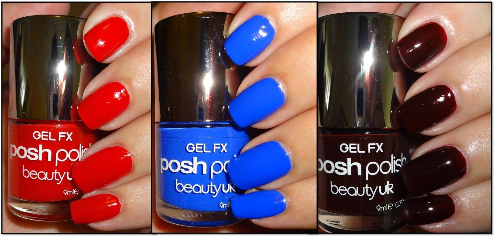 Wendy\'s Delights: Beauty UK Gel FX Nail Polish - Poppy Red, Blue ...