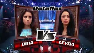 Dina Arriaza y Leyna Sadki la voz 2013