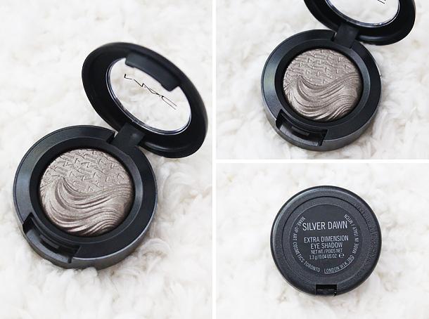 mac extra dimension eyeshadow silver dawn review