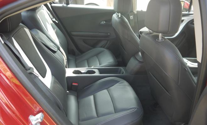 Vauxhall Ampera rear seating