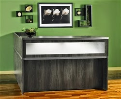 Aberdeen Gray Steel Reception Desk by Mayline
