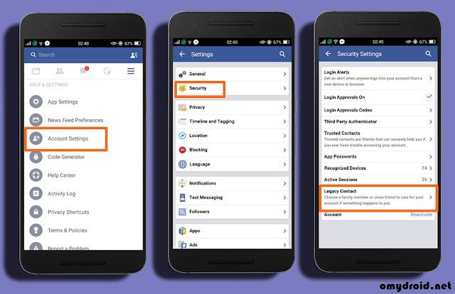 Cara Wariskan Facebook Kepada Orang Lain