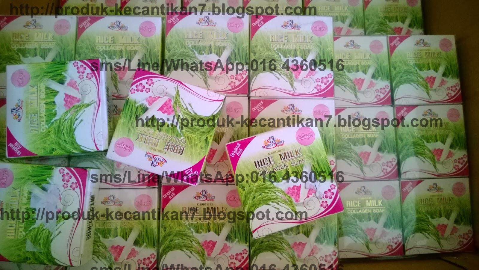Produk Kecantikan Wanita Sabun Susu Beras Collagen K Brothers