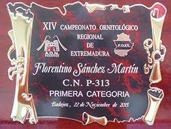 XIV Campeonato Regional Ornitológico de Extremadura FOEX