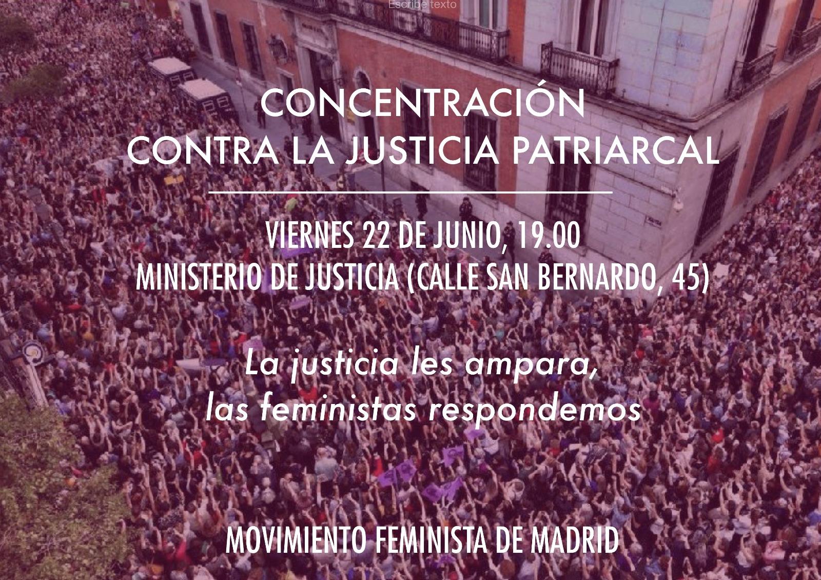 22 junio:  Concentración en Madrid