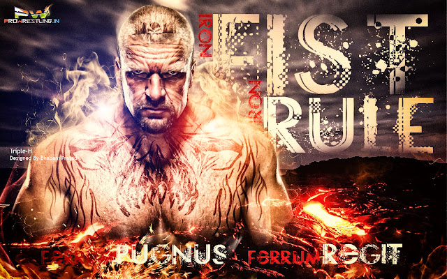 "Wallpaper: Download Triple-H New World Champ ""Iron Fist Iron Rule (Ferrum Pugnus Ferrum Regit)"" - By Bhabani, triple-h wallpaper, triple-h hhh new royal rumble 2016 winner wallpaper iphone android wallpaper, india,"