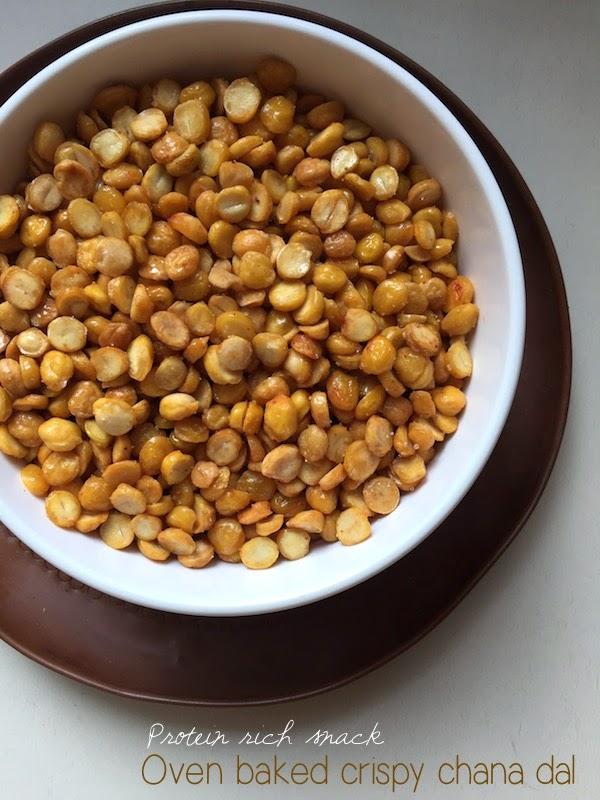 baked crispy chana dal, chana dal snack, indian snack, protein rich snack