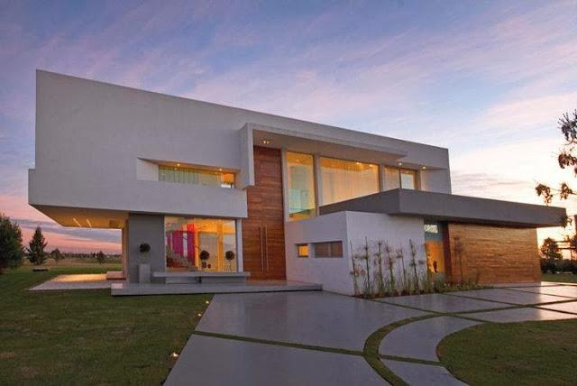 Construindo minha casa clean tipos de portas modernas e for Casa moderna argentina