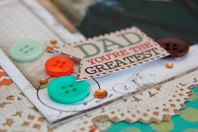 Bo Bunny Mama-Razzi2 Father's Day Layout Juliana Michaels detail