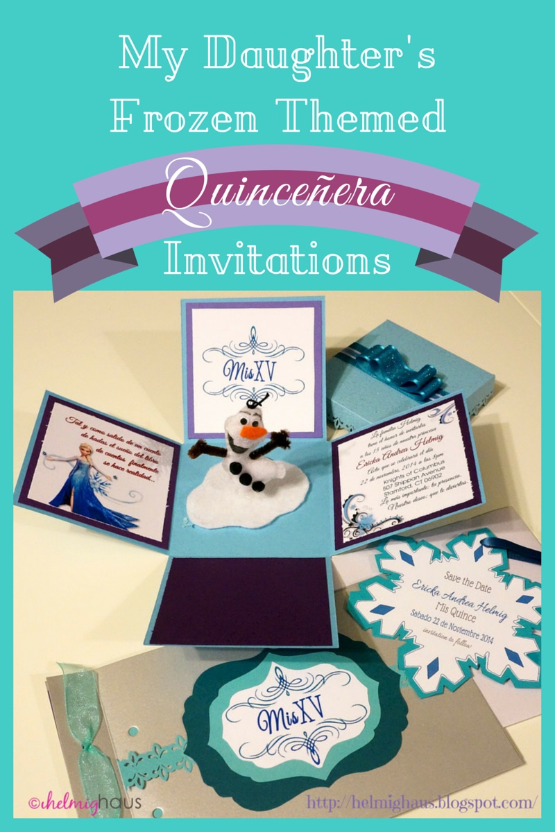 HelmigHaus: Planning a Quinceañera Party - Frozen Themed Invitations