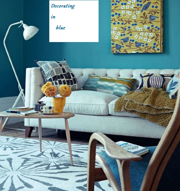 Living Room Decorating Ideas In Retro Style Blue Living Room