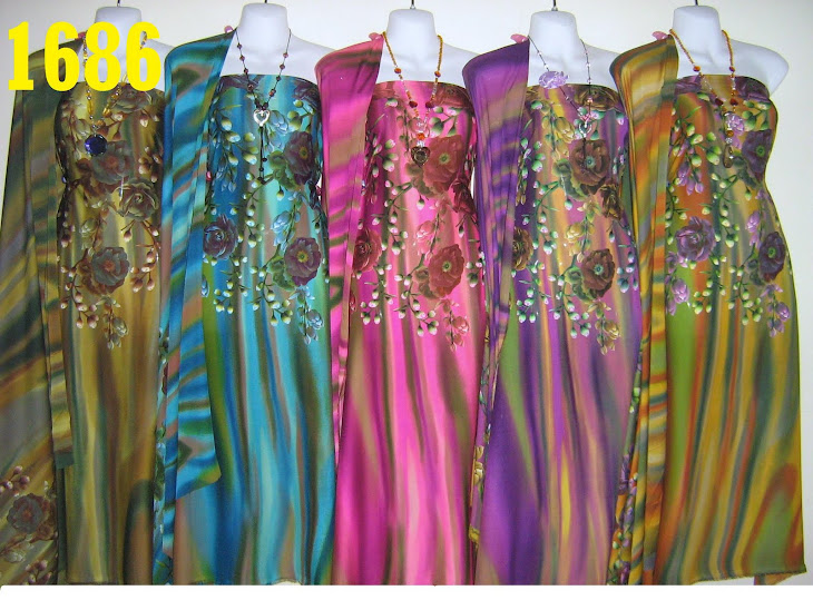 CDA 1686: CREPE DIGITAL AWANA KOREAN, CANTIK MENARIK, 4 METER, 5 COLORS