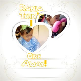 Rania Turn's 1 GiveAway!