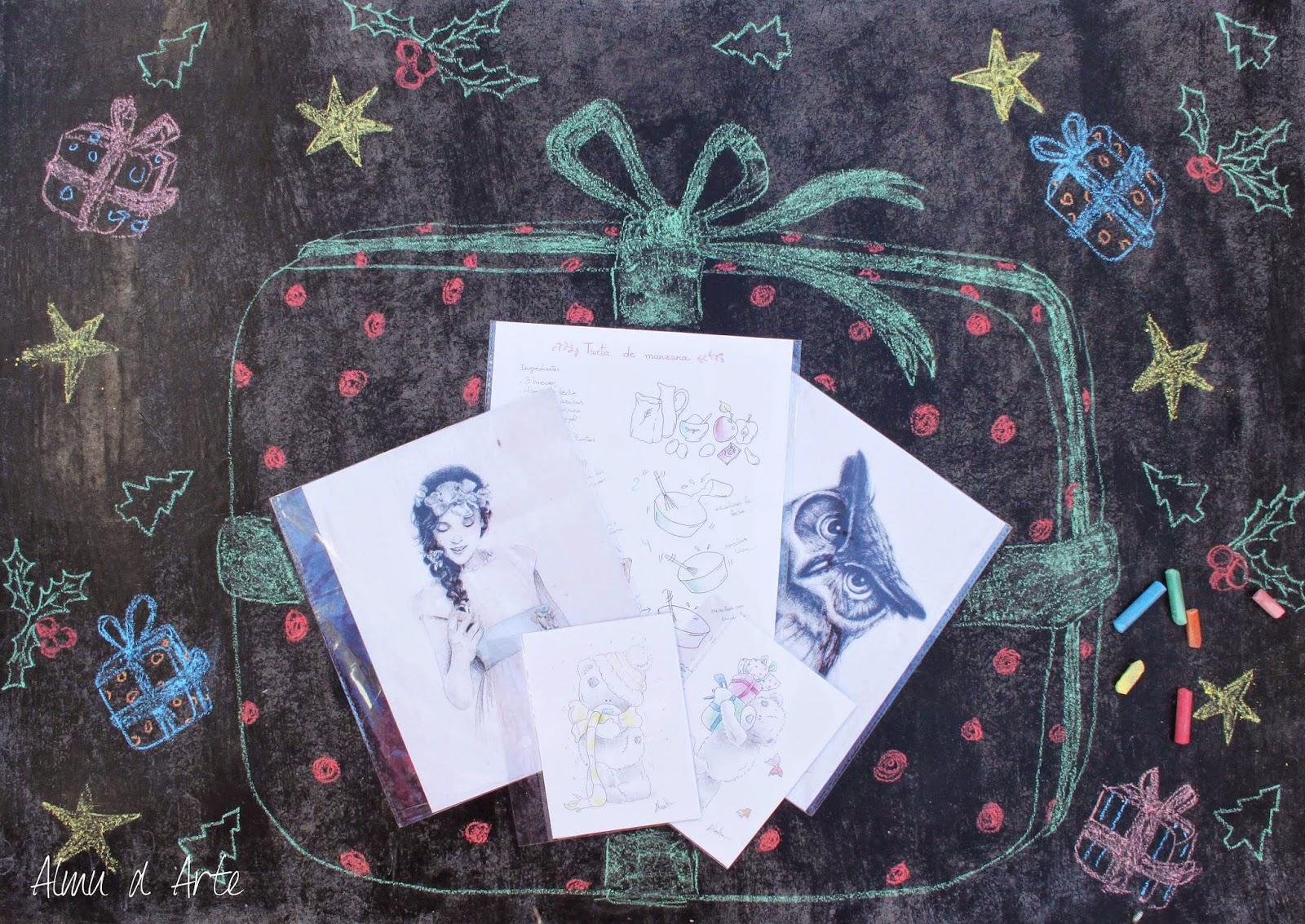 Sorteo navideño: 5 láminas de Almu d Arte