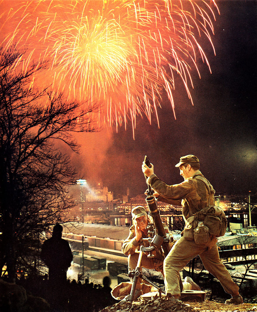35 Cynical Collages That Tell Uncomfortable Truths About The World - Fireworks