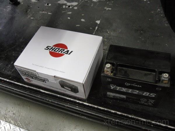 ゼファー750 ショーライバッテリー
