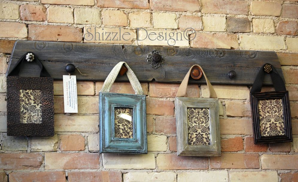 Reclaimed Wood With Vintage Drawer Pulls Repurposed Picture Frames