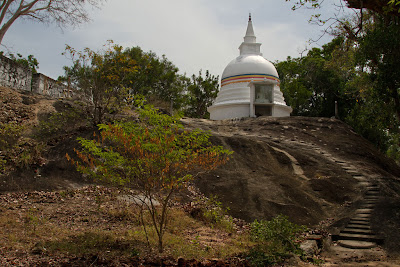 A photograph from the Kudumbigala Monastery