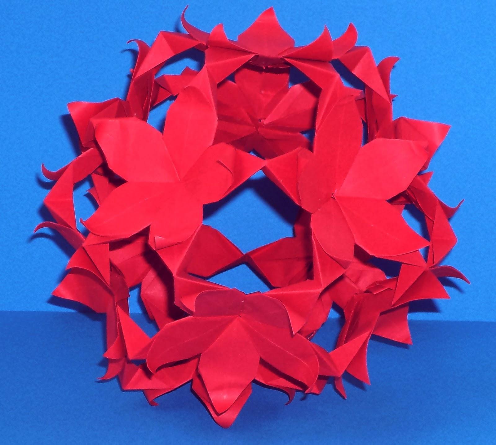 Origami Hobby Layered Passion Flower Kusudama
