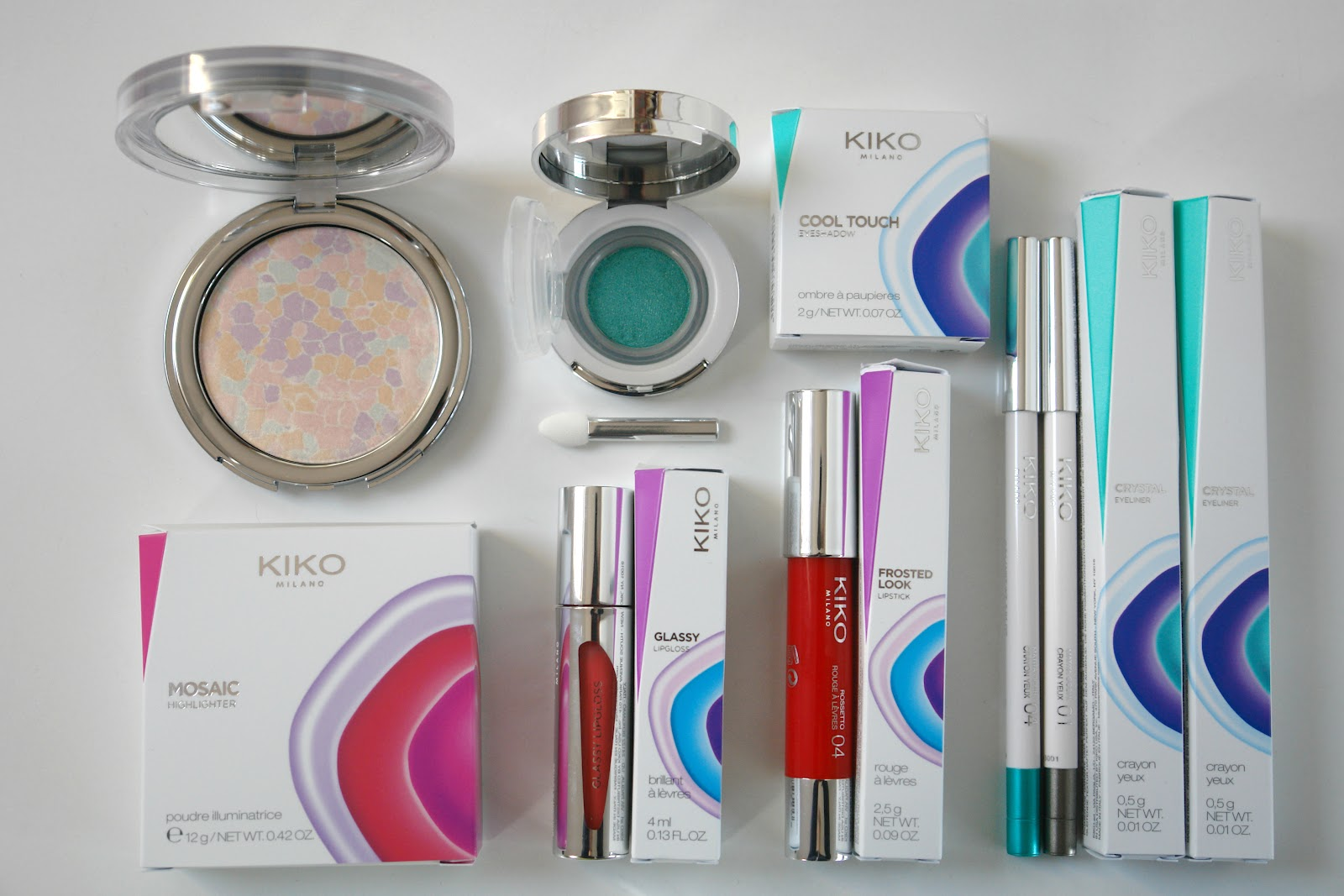 KIKO Generation Next collection, beauty, KIKO, review, 2015, Generation Next Face Brush, CC Cream Cushion, Masterpiece Bronzer, Mosaic Blush, Crystal Fusion Super Moisture Face Serum, KIKO Glassy Lipgloss, KIKO Frosted Look Lipstick, KIKO Crystal Eyeliner, KIKO Cool Touch Eyeshadow in Experimental Green, KIKO Mosaic Highlighter in Future Light