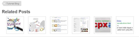 Cara Membuat Related Post Gambar Thumbnail Di Blogspot