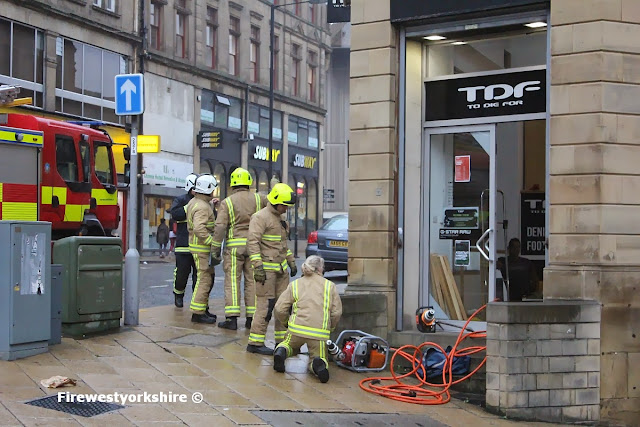 TDF, Fire crews, Trapped man Shutter , window