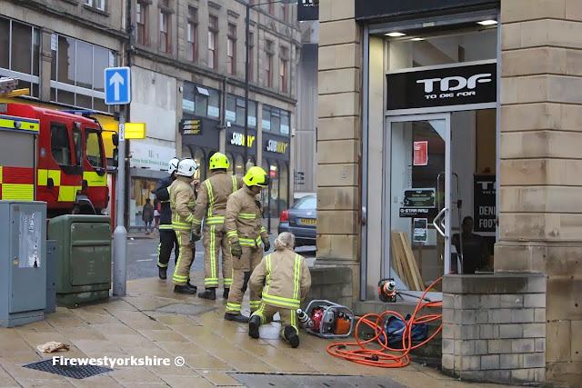 TDF, Fire crews, Trapped man Shutter , window