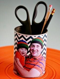 Bote de lapiceros para el día del padre en Recicla Inventa