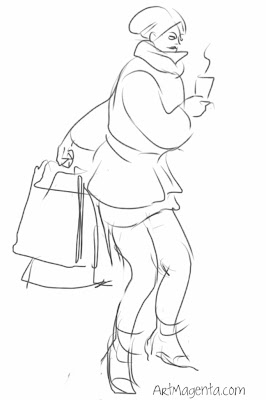 Shopping gesture drawing by ArtMagenta