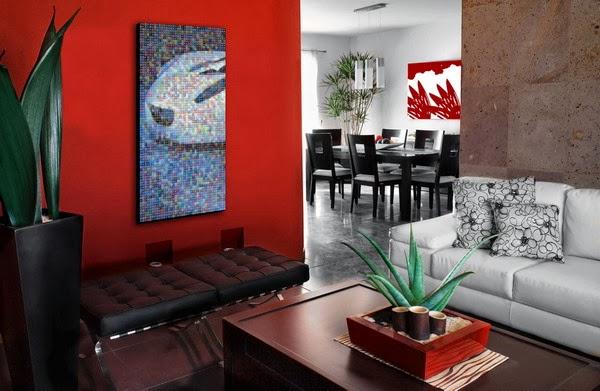 Interior ruang tamu modern