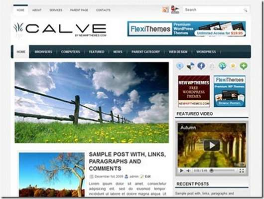 Calve Free Premium WordPress theme