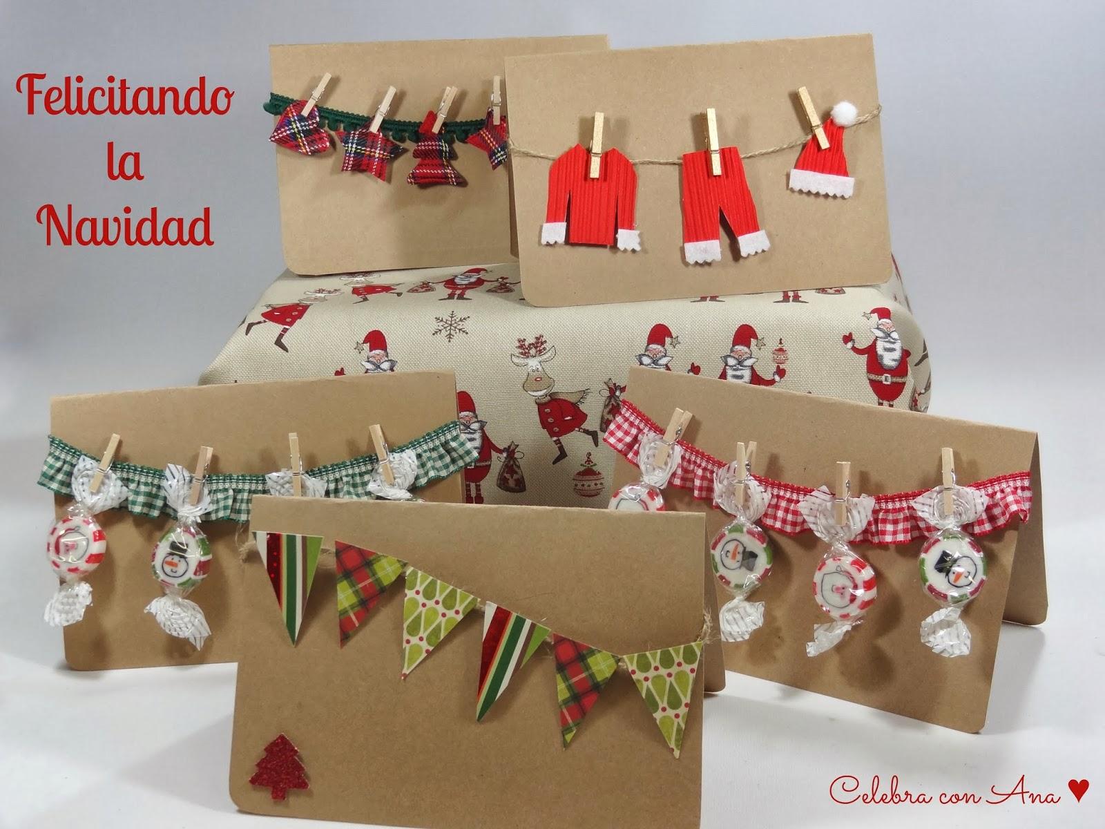 Celebra con ana compartiendo experiencias creativas - Postales navidenas para hacer ...