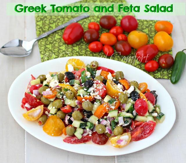 Kitchen Simmer: Greek Tomato and Feta Salad